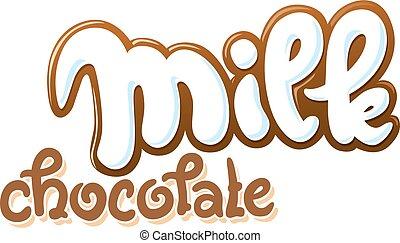 szöveg, vektor, megfej, ábra, csokoládé