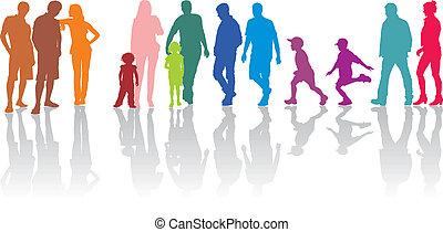 szülők, gyerekek, csoport