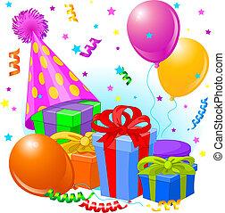 születésnap, dekoráció, tehetség