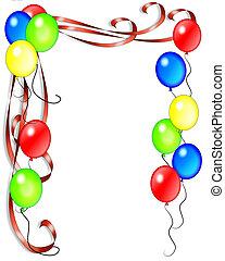 születésnap, gyeplő, léggömb