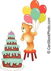 születésnap, mackó