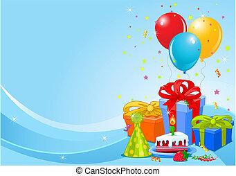 születésnapi parti, háttér