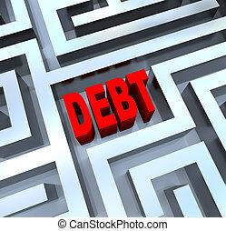 szünet, útvesztő, adósság, ki
