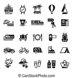 szünidő, recreatio, utazás, signs., &