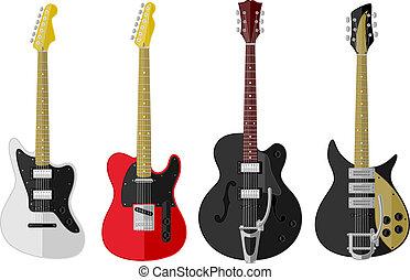 szüret, állhatatos, elszigetelt, gitárok