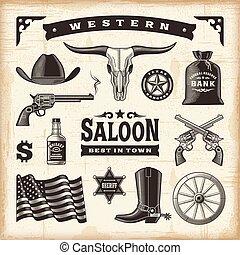 szüret, állhatatos, western