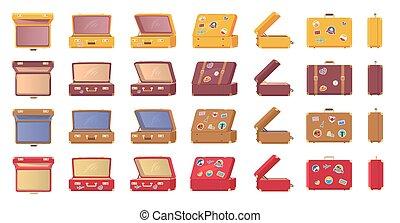 szüret, ódivatú, böllér, bőrönd