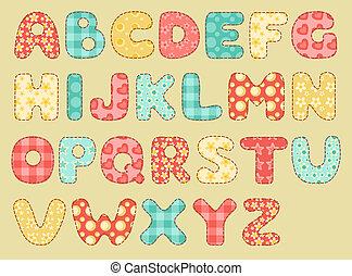szüret, alphabet., paplan