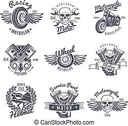 szüret, elnevezés, állhatatos, motorkerékpár, monochrom