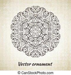 szüret, elvont, pattern., kéz, háttér., vektor, húzott