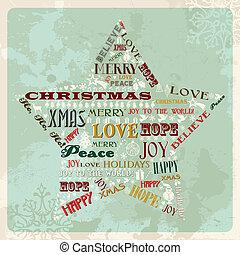 szüret, fogalom, csillag, karácsony, vidám