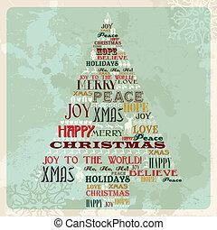 szüret, fogalom, fa, karácsony, vidám