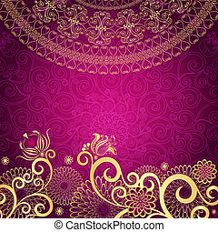 szüret, gold-purple, keret