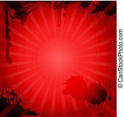 szüret, háttér, piros