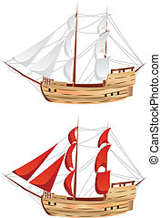 szüret, hajó, vitorlázás