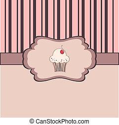 szüret, keret, cupcake