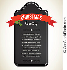 szüret, meghívás, chalkboard, karácsony, címke