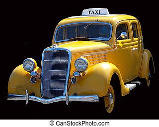 szüret, sárga taxizik