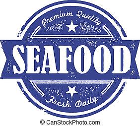 szüret, tenger gyümölcsei, friss, címke