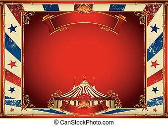szüret, tető, cirkusz, háttér, nagy, horizontális