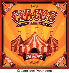 szüret, tető, cirkusz, nagy, poszter