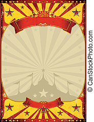 szüret, tető, cirkusz, poszter, nagy