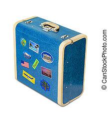 szüret, utazás, bőrönd, böllér