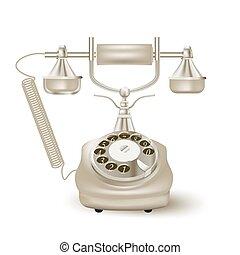 szüret, vektor, white., ábra, telefon