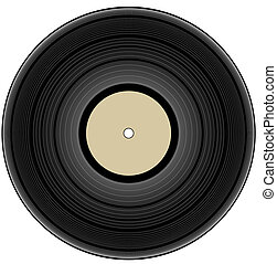 szüret, -, vinyl, ábra, hanglemez