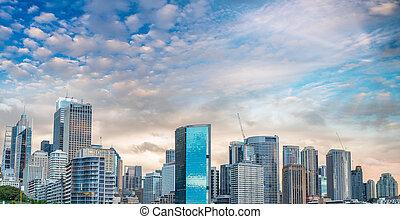 szürkület, láthatár, ausztrália, sydney szállás