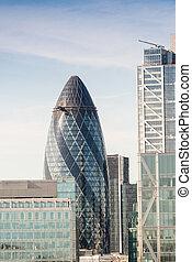 szürkület, város, london, uk