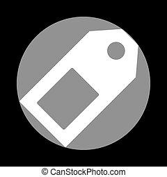 szürke, c-hang, cégtábla., ár, háttér., címke, black körbejár, fehér, ikon