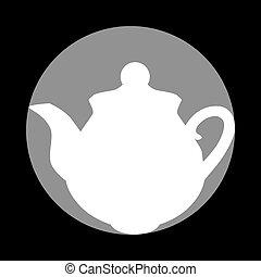 szürke, c-hang, tea, cégtábla., készítő, háttér., black körbejár, fehér, ikon