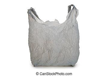 szürke, műanyag táska