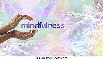 szürrealista, elmélkedés, körülvett, mindfulness, természet