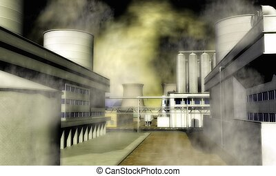 szürrealista, ipari terület
