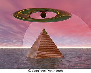 szürrealista, piramis