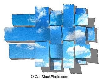 sző, ég, paper-strip