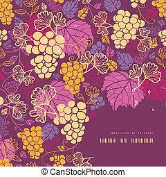 szőlő, kellemes, keret, szőlőtőke, háttér példa, sarok
