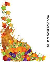 szőlőtőke, határ, hálaadás, ábra, bőségszaru