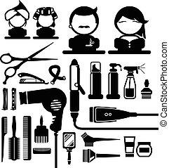 szőr letesz, ipari formatervezés, ikonok
