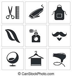 szőr salon, állhatatos, ikon