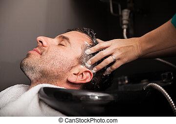 szőr salon, kimosott, kinyerés