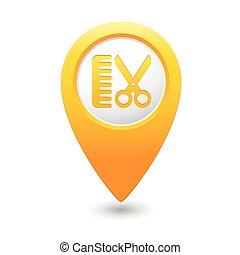 szőr salon, mutató, ikon, térkép