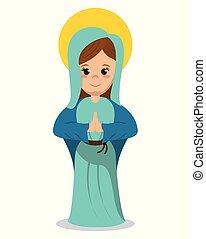 szűz, kép, vallásos, mária, katolikus