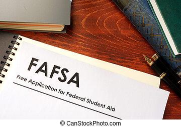 szabad, segély, szövetségi, diák, alkalmazás, (fafsa)