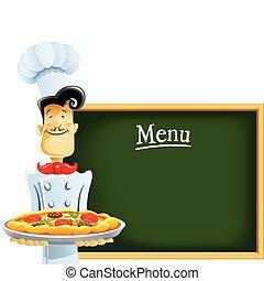 szakács, étrend, pizza