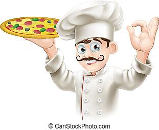 szakács, ízletes, kitart pizza
