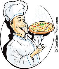 szakács, pizza