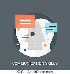 szakértelem, kommunikáció, fogalom, ikon